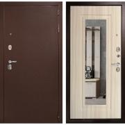 Входная металлическая дверь Дверной Континент Гарант с Зеркалом (Сандал белый)