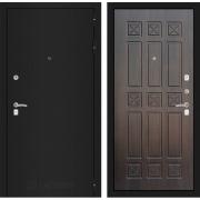Входная дверь Лабиринт Классик 16 (Шагрень черная / Алмон 28)