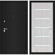 Входная дверь Лабиринт Классик 1 (Шагрень черная / Сандал белый)