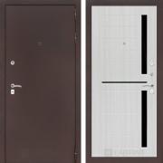 Входная дверь Лабиринт Классик 2 (Антик медный / Сандал белый)
