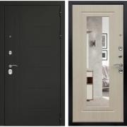 Входная металлическая дверь Дверной Континент Сити 3К с зеркалом (Дуб беленый)