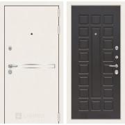 Входная дверь Лабиринт Line White 4 (Шагрень белая / Венге)