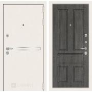 Входная дверь Лабиринт Line White 10 (Шагрень белая / Дуб филадельфия графит)