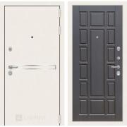 Входная дверь Лабиринт Line White 12 (Шагрень белая / Венге)