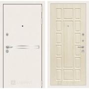 Входная дверь Лабиринт Line White 12 (Шагрень белая / Дуб беленый)