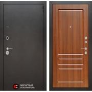 Входная дверь Лабиринт Сильвер 3 (Антик темное серебро / Орех бренди)
