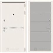 Входная дверь Лабиринт Line White 13 (Шагрень белая / Грей софт)
