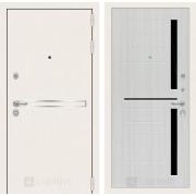 Входная дверь Лабиринт Line White 2 (Шагрень белая / Сандал белый)