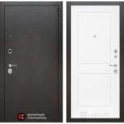 Входная дверь Лабиринт Сильвер 11 (Антик темное серебро / Белый софт)