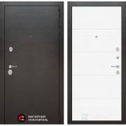 Входная дверь Лабиринт Сильвер 13 (Антик темное серебро / Белый софт)