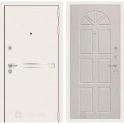 Входная дверь Лабиринт Line White 15 (Шагрень белая / Алмон 25)