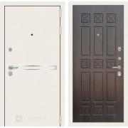Входная дверь Лабиринт Line White 16 (Шагрень белая / Алмон 28)