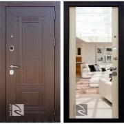 Входная дверь Кондор Мадрид Зеркало (Венге / Беленый Дуб)