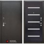 Входная дверь Лабиринт Сильвер 1 (Антик темное серебро / Венге)