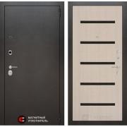 Входная дверь Лабиринт Сильвер 1 (Антик темное серебро / Дуб беленый)