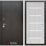 Входная дверь Лабиринт Сильвер 1 (Антик темное серебро / Сандал белый)