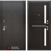 Входная дверь Лабиринт Сильвер 2 (Антик темное серебро / Венге)