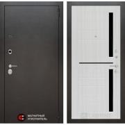 Входная дверь Лабиринт Сильвер 2 (Антик темное серебро / Сандал белый)