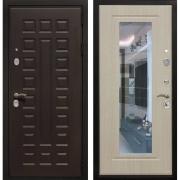 Входная металлическая дверь Армада Триумф 3К с Зеркалом (Венге / Белёный дуб)