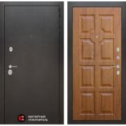 Входная дверь Лабиринт Сильвер 17 (Антик темное серебро / Золотой дуб)
