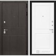 Входная дверь Лабиринт Урбан 11 (Дуб горький шоколад / Белый софт)
