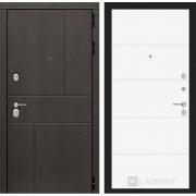 Входная дверь Лабиринт Урбан 13 (Дуб горький шоколад / Белый софт)
