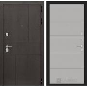 Входная дверь Лабиринт Урбан 13 (Дуб горький шоколад / Грей софт)
