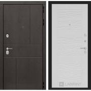 Входная дверь Лабиринт Урбан 6 (Дуб горький шоколад / Белое дерево)