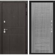 Входная дверь Лабиринт Урбан 6 (Дуб горький шоколад / Сандал серый)