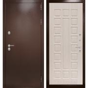 Уличная дверь Лабиринт Термо Магнит 4 (Антик медный / Белёный дуб)