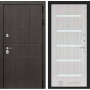 Входная дверь Лабиринт Урбан 1 (Дуб горький шоколад / Сандал белый)