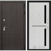 Входная дверь Лабиринт Урбан 2 (Дуб горький шоколад / Сандал белый)