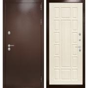 Уличная дверь Лабиринт Термо Магнит 12 (Антик медный / Белёный дуб)