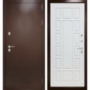 Уличная дверь Лабиринт Термо Магнит 12 (Антик медный / Белое дерево)