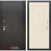 Входная дверь Лабиринт Сильвер 3 (Антик темное серебро / Крем софт)