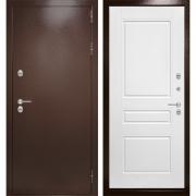Уличная дверь Лабиринт Термо Магнит 3 (Антик медный / Белый софт)