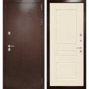 Уличная дверь Лабиринт Термо Магнит 3 (Антик медный / Крем софт)