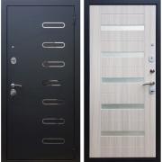 Входная металлическая дверь Армада Понте СБ-14 (Черный муар / Сандал белый)