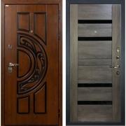 Входная металлическая дверь Лекс Спартак Cisa Неро Графит Шале (панель №65)