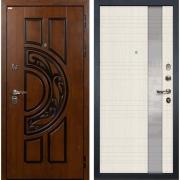 Входная металлическая дверь Лекс Спартак Cisa Новита Белёный дуб (панель №52)