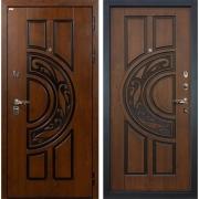 Входная металлическая дверь Лекс Спартак Cisa Голден патина черная (панель №27)