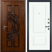 Входная металлическая дверь Лекс Спартак Cisa Вероника-1 Эмаль Белая (панель №55)