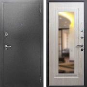 Железная дверь с зеркалом (в квартиру) New Line 2A Зеркало Беленый дуб