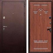 Шумоизоляционная стальная дверь (в квартиру или дом) New Line 5А Орех