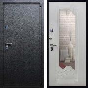 Входная дверь с зеркалом (в квартиру) New Line М-3 Зеркало Ясень белый