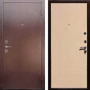 Металлическая дверь ДМ - Эконом Беленый дуб