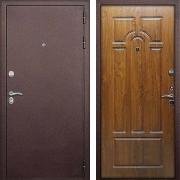 Толстая утепленная дверь (в квартиру или дом) New Line М-7 (4-х контурная) Дуб золотой