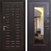Железная дверь с зеркалом (в квартиру) New Line Премиум 3 Зеркало Венге