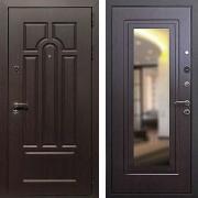 Входная дверь с зеркалом (в квартиру) New Line Эврика Зеркало Венге
