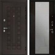 Входная дверь с зеркалом (в квартиру) New Line Сенатор СБ-16  Венге